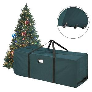 elf stor green rolling duffle bag style christmas tree storage bag - Christmas Tree Bag Storage