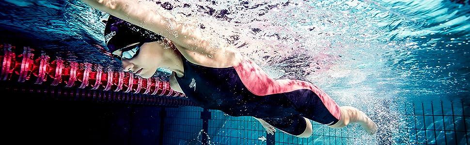 Speedo(スピード) フィットネス水着 レディース セパレーツ アクアジム フルオープンファスナー SD58Z19
