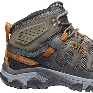 KEEN hiking boots, breathable hiking boots, hiking boots for men, warm weather hiking