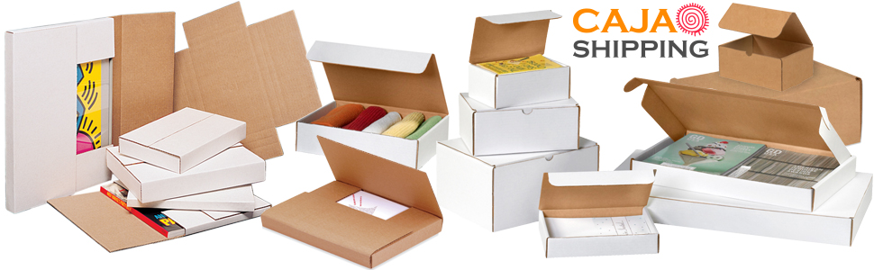 Caja Shipping easy fold mailers come in sizes to fit all of your needs