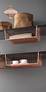 ... ordenación cocina, organizadores cocina, polytherm, cobre, copper, estante