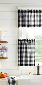 Elrene Home Fashions Farmhouse Living Kitchen Window Collection