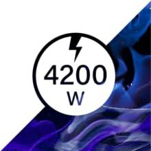 Orbegozo Estufa De Butano Hbf 90 4200W,Llama Azul, 4200 W, Negro