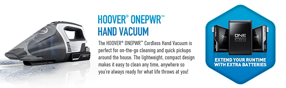 onepwr hoover cordless system network family handheld hand held vac vacuum clean quick easy fast