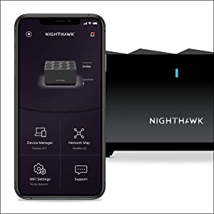 MS60 Works with Your Nighthawk Mesh WiFi System speeds up to 1.8Gbps add up to 1,500 sq NETGEAR Nighthawk Mesh WiFi 6 Add-on Satellite ft MS60-100NAS