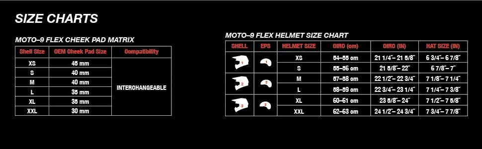 bell moto 9 flex dirt bike motorcycle helmet size chart
