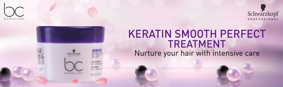 Schwarzkopf Professional Bc Keratin Smooth Perfect Treatment, Purple, 200 ml