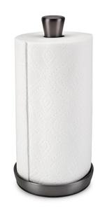 Fleur Single Tear Paper Towel Holder Black Lacquer
