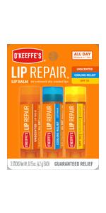 O'Keeffe's Lip Repair Li Balm Variety Pack