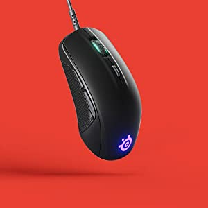 SteelSeries 62466 Rival 110, Custom TrueMove1, 7,200 CPI, 240 IPS, 30g, Prism RGB, Optical Gaming Mo