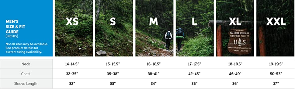 Men's Jacket size and fit guide
