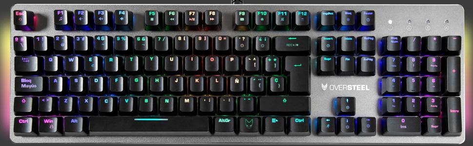 Oversteel Titanium Mechanische Gaming Tastatur Rgb Computer Zubehör
