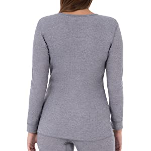 906dc71acb2aff Fruit of the Loom Women s Waffle Thermal Underwear Top at Amazon ...