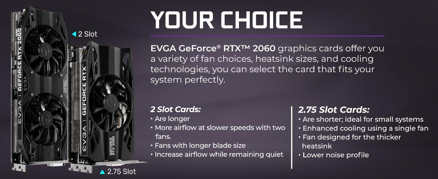 EVGA GeForce RTX 2060 XC Black Edition Gaming, 6GB GDDR6, HDB Fan Graphics  Card 06G-P4-2061-KR