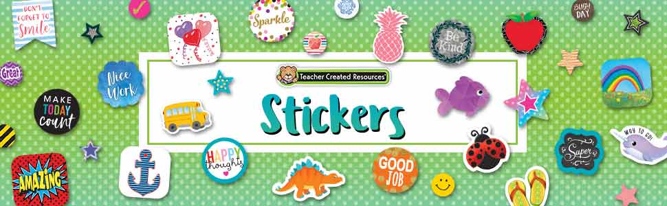 stickers by teacher created resources banner