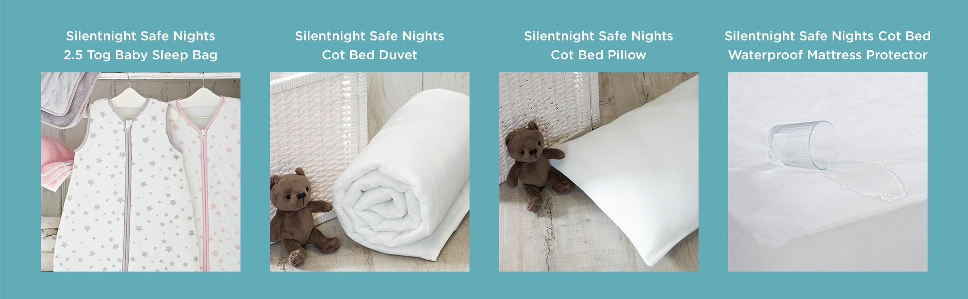 Silentnight Safe Nights Nursery Cot Bed Duvet Cover