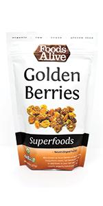 Golden Berries - Organic, Plant-Based, Vegan, Non-GMO - Sour berries, gooseberries