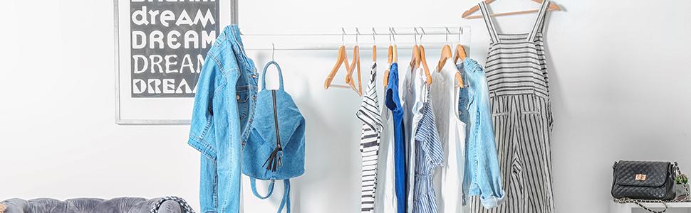 Pantalons 33 x 36,5 x 0,4cm Gain de Place Argent Relaxdays 10026608/_55 Cintres Multiples 3 Barres Robes 4 mm Design m/étal /Écharpes