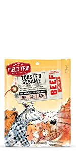 field trip toasted sesame beef jerky gluten free all natural grass fed