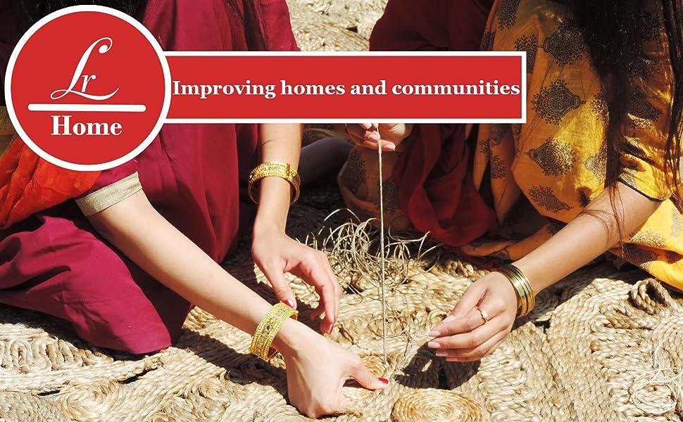 India, Jute, Natural Jute, Area Rug, Boutique, Handmade, LR Home, Handstitched, Community, Decor