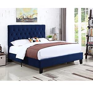 dalton; upholstered bed; tufted bed