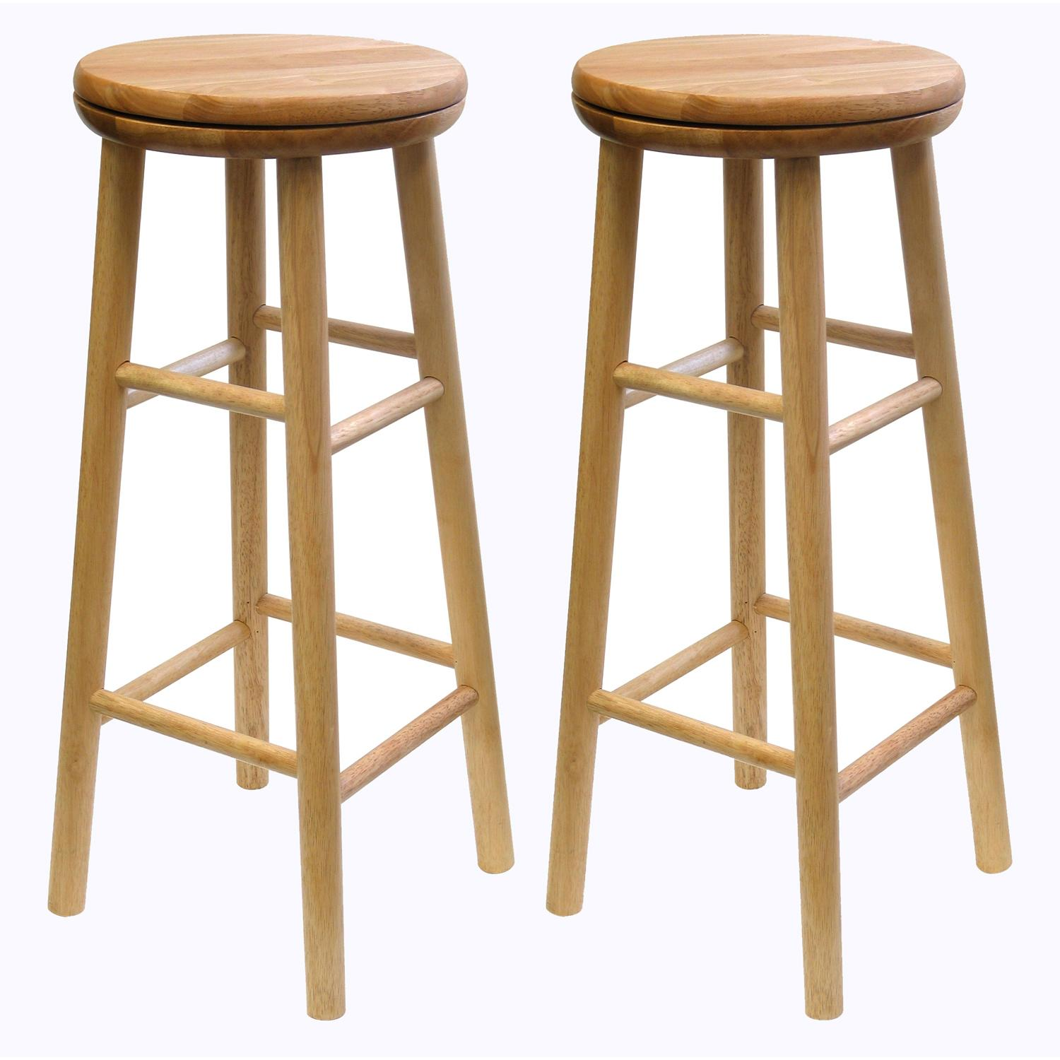 winsome wood 30inch swivel seat barstool with natural finish