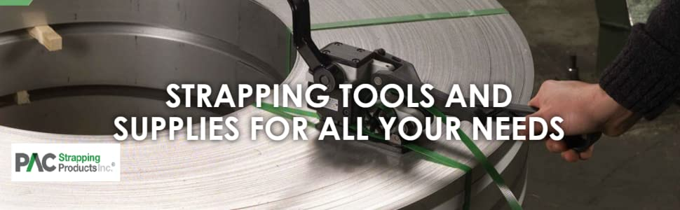 pac strapping, strapping supplies, banding supplies, strapping tools