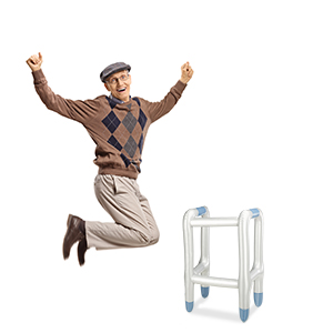 Relaxdays- Andador hinchable para disfraz abuela, Color plateado, 80 x 50 x 40 cm (10023766)