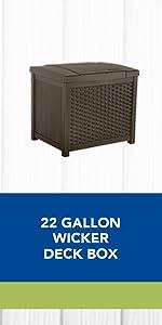 Wicker Deck Box