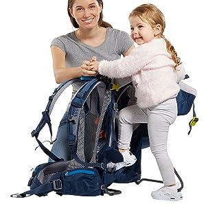 Instigning; på sidan; bärsele för barn, ram, aluminiumram, ställningar; stativ