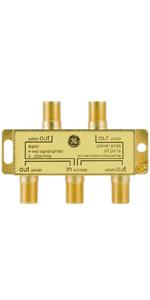 GE 4-Way Splitter Coaxial