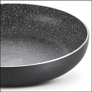 Prestige Omega Deluxe Granite Fry Pan, 240mm, Black SPN-FOR1