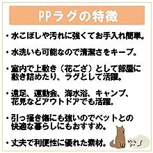 PP ラグ 花ござ 特徴 説明 上敷き カーペット 床 保護 汚れ きず 隠す 和室 洋室 模様替え レジャーシート 子供 ペット 介護 水洗いできる