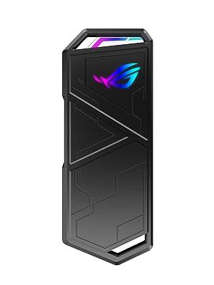 ASUS ROG Strix Arion - Caja de SSD M.2 NVMe (USB3.2 Gen. 2 de Tipo C 10 Gbps, Cables USB-C a C y USB-C a A, instalación sin Destornillador, Almohadillas térmicas, Compatible