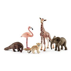 wild life playset, wild life assortment, wild life set, wild life animals, flamingo,elephant,giraffe
