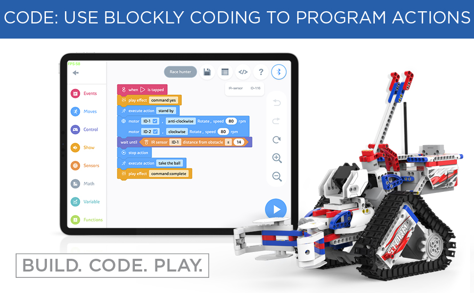 sports, codeable, coding, buildable, competing, champbot STEM, educational, 8+, kids, smart, robot
