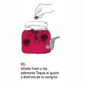 Toque Kit Sangría - jarra con grifo, panela especiada y ...