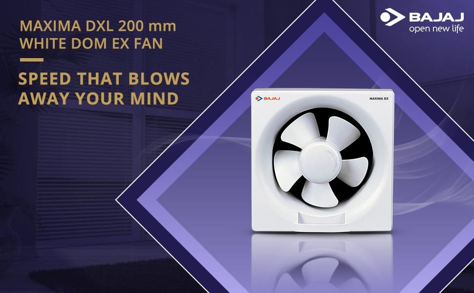 Bajaj Maxima DX 200 mm Exhaust Fan (White) SPN FOR 1