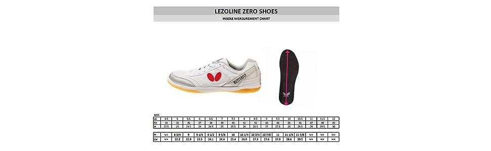d0020f860 Amazon.com  Lezoline Zero Butterfly Table Tennis Shoes - Sizes 5 ...