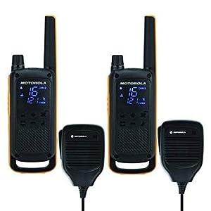 Motorola Talkabout T82 Extreme RSM –Alcance hasta 10 Km, pantalla oculta, linterna LED, Walkie Talkie, color negro y amarillo: Motorola: Amazon.es: Electrónica