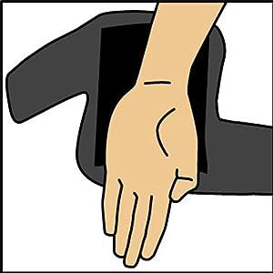 Do not put hand through comfort fit sleeve