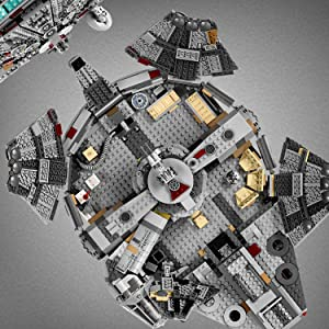 Amazon Com Lego Star Wars The Rise Of Skywalker Millennium Falcon 75257 Starship Model Building Kit And Minifigures 1 351 Pieces Toys Games