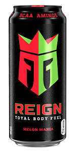 CoQ10 BCAA Zero Sugar Zero Calories workout drink muscle recovery Melon Mania crown knight can