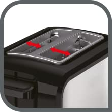 fentes centrage grille pain toaster express tefal TT410D10