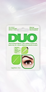 DUO Brush-On Strip Lash Adhesive, Clear, 0.18 oz