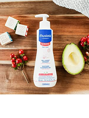 Mustela Cleansing Body Gel, Gentle Baby Wash with Natural Avocado Perseose