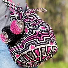 pink,pompom,tassels,pattern,diamonds,aztec print,challenging crochet,