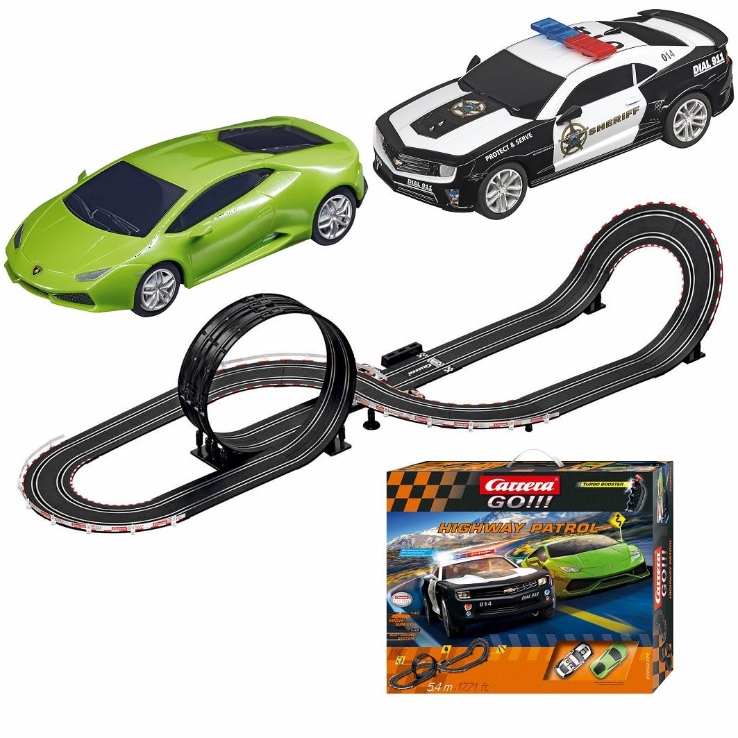 carrera go highway patrol race set slot cars. Black Bedroom Furniture Sets. Home Design Ideas