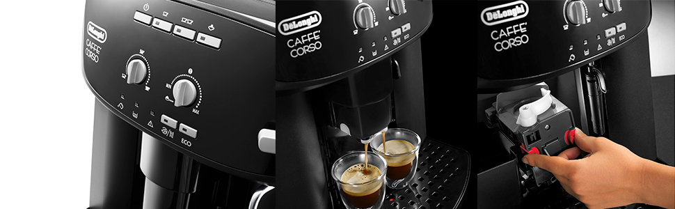 Delonghi Caffe Corso Esam 2600 Cafetera Compacta, 1450 W, 1.8 ...