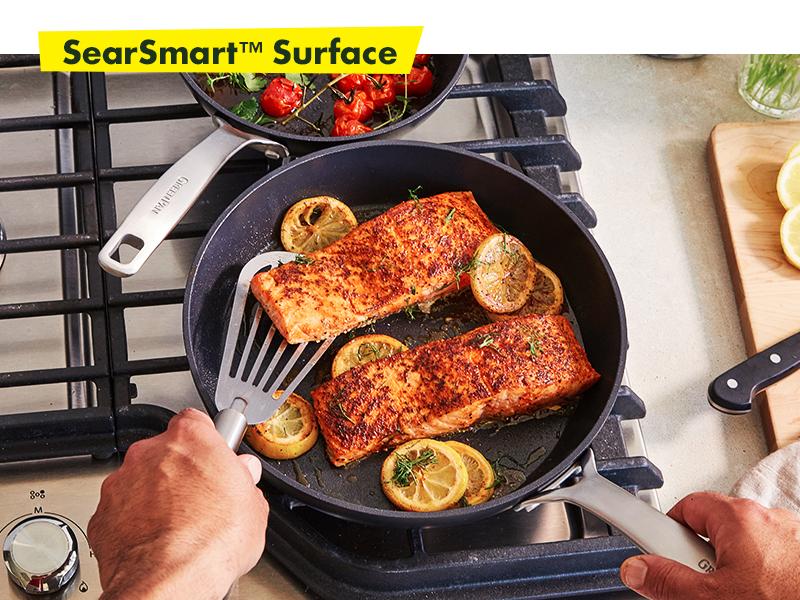 GreenPan, Searsmart, Healthy Ceramic Nonstick, Cookware set, hard anodized, textured, sear, pfoa